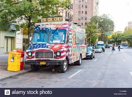 American Flag On Truck American Flag Painted On Food Truck Will Parked On The Side Of The