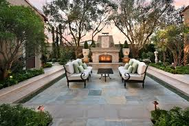 Sunken Patio Landscaping Courtyard Ideas Patio Mediterranean With Decorative