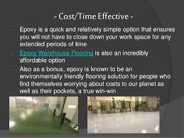 top 7 benefits of epoxy warehouse flooring
