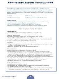 Usajobs Gov Resume Builder Resume Writing