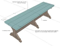 Farm Table Woodworking Plans by Ana White Fancy X Farmhouse Bench Diy Projects
