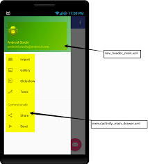 activity android how to use navigation drawer activity in android studio codekrypt