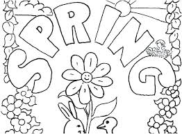 spring coloring sheets springtime coloring pages spring regarding printable decorations 8