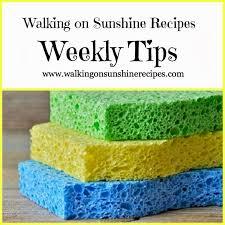 cleaning your kitchen sponge walking on sunshine
