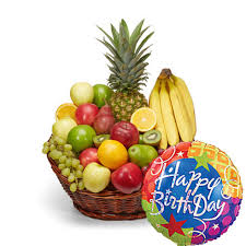 food baskets to send stuffed happy birthday fruit basket at send flowers