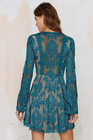 nasty gal romantics lace dress teal in green lyst