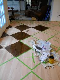 Checkerboard Laminate Flooring How To Paint Stain A Pattern On A Wood Floor By Artist Arlene