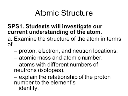 atomic structure sps1 students will investigate our current
