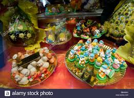 easter goodies europe italy venice easter goodies for sale in a bakery window