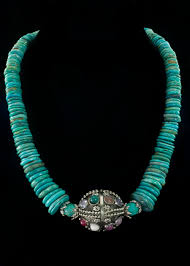 sterling silver stone necklace images Turquoise multi stone necklace genuine turquoise beads sterling jpg