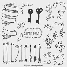 arrows and other ornaments vector free