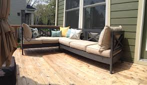 White Wooden Garden Furniture Ana White Weatherly Patio Sectional Seats 6 Diy Projects