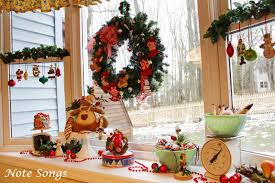 Christmas Decorations For Window Sills by Note Songs Christmasing On The Window Sill