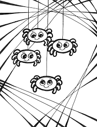 Free Coloring Pages For Halloween To Print by Halloween Spider Colouring Pages For Halloween Spider Coloring