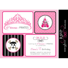 and pirates birthday party printable invitation black grey and pink