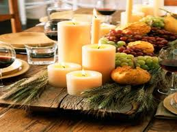 kitchen table centerpiece thanksgiving dinner party table setting