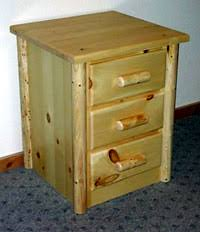 hand made log nightstands