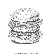 illustration burger big burger fast food stock vector 392671747