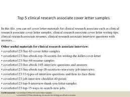 cover letter for clinical research associate