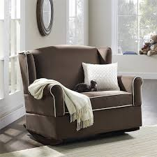 Chair And A Half Rocker Recliner Amazon Com Dorel Living Baby Relax Lainey Wingback Super Wide