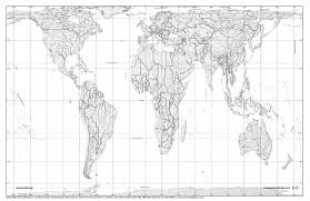 Blank World Map Worksheet by Peters Maps Free Prints