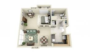 One Bedroom Apartments Design Floor Plans For Studio Apartments Tinderboozt Com
