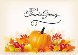 thanksgiving background with colorful leaves and fresh