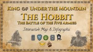 map hobbit interactive map of the battle of five armies