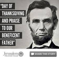 president abraham lincoln thanksgiving after the battle of