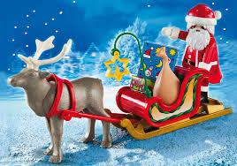 santa s sleigh with reindeer 5590 playmobil usa