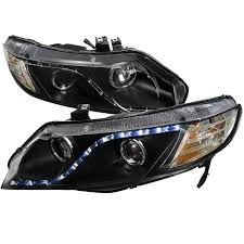honda civic headlight dash z racing lighting aftermarket lights headlights