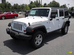 2011 Wrangler 2011 Bright White Jeep Wrangler Unlimited Rubicon 4x4 51479492