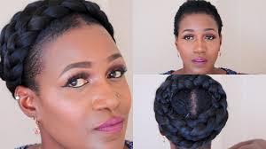 grecian goddess braid on short natural hair youtube