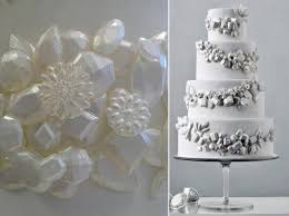edible bling jewelled beaded winter wedding cakes cake magazine