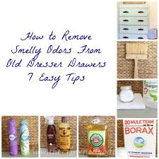 To Remove Smelly Odors From Old Dresser Drawers