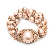 pink pearl bracelet images Grace black plated three rows light pink pearl bracelet folli follie jpg