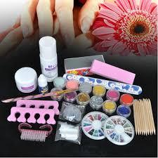 amazon com 350buy basic acrylic 6 powder liquid kits nail art tip