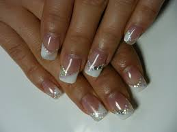 nail polish awesome gel nail tips french tip nails with glitter