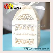 Wedding Cake Gift Boxes Wedding Cake Boxes Wedding Chocolate Boxes With Ribbon Laser Cut