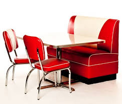 Retro Red Kitchen Chairs - i want this american diner style for my new kitchen for the