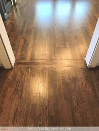 How To Finish Hardwood Floors Yourself - before and after water stained oak floor sanded down and