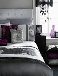 Plum Bedroom Decor Master Bedroom Grey Walls White Curtains Purple Accents Google
