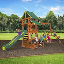 swing sets image on captivating backyard playground sets for