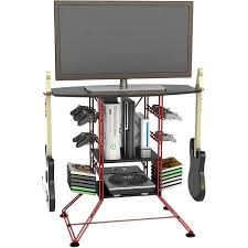 atlantic centipede gaming storage center and tv stand for tvs up
