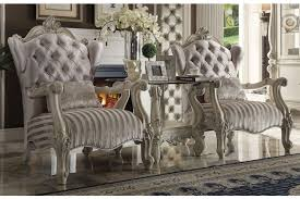 Ivory Accent Chair Versailles Ivory Accent Chair By Acme Furniture 52087 Home