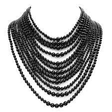black necklace images Black pearl necklace bitsy bride jpg
