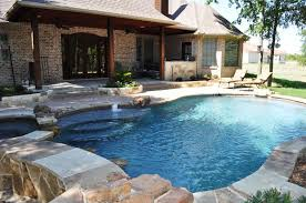 Backyard Inground Swimming Pools Forney Tx Inground Swimming Pool Synthetic Lawn Surfaces And