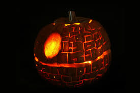 halloween pumpkin light how to make a death star pumpkin with pictures wikihow