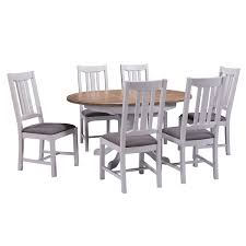 hutch buxton light grey painted extending dining table u0026 6 chairs