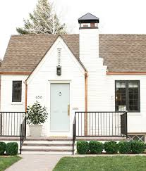 exterior brick paint color is benjamin moore china white grey